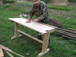 Деревянный стол своими руками на даче фото 593