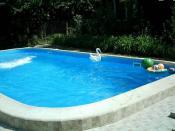 пленочный бассейн на даче
