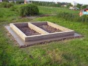 Ленточный фундамент для бани.