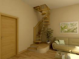 Проектирование и монтаж деревянной лестницы внутри дома