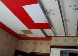 Как сделать потолок из пластика фото