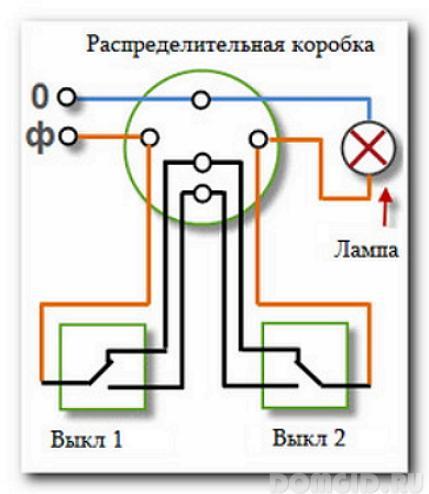 Монтаж схемы проходного