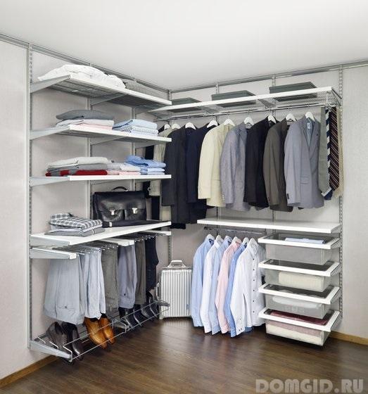 угловых гардеробных комнат
