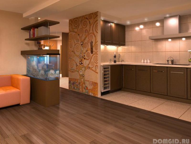 Цвет пола на кухне фото