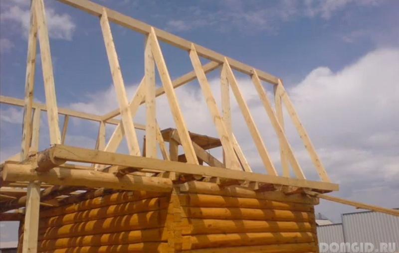 Построить двухскатную крышу своими руками фото