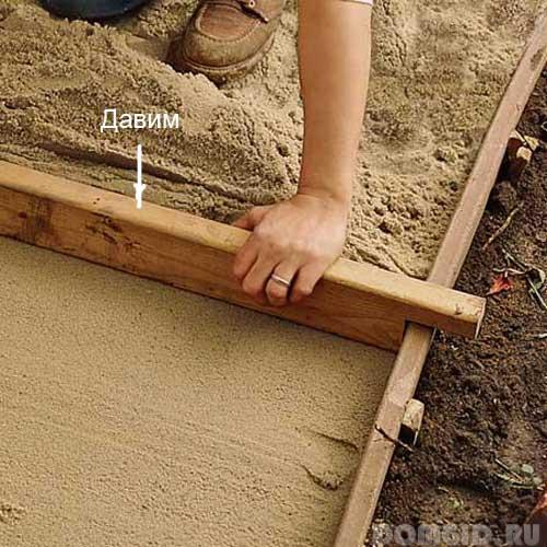 Как сделать дорожки на даче самим