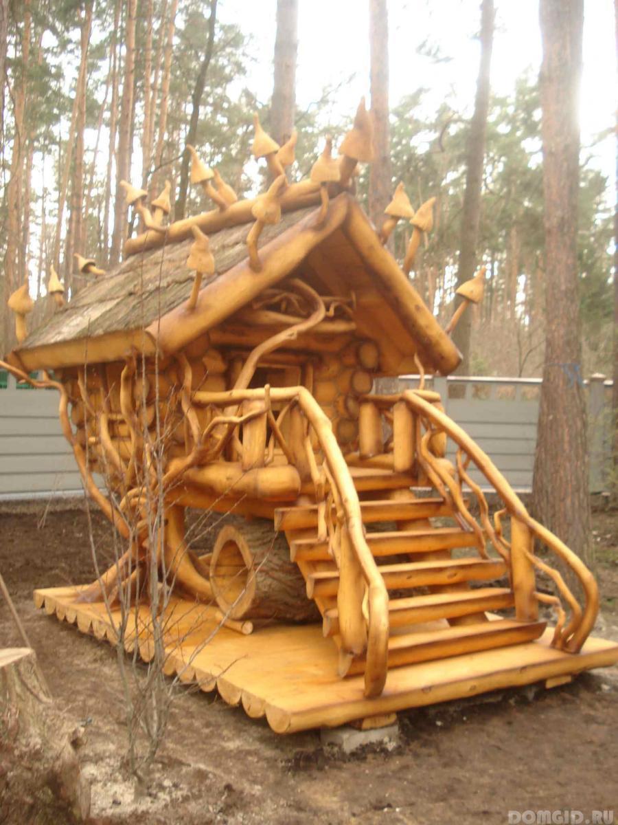 Фото деревянные домики для детей своими руками 68