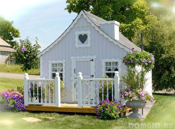Строим домик для дачи своими руками