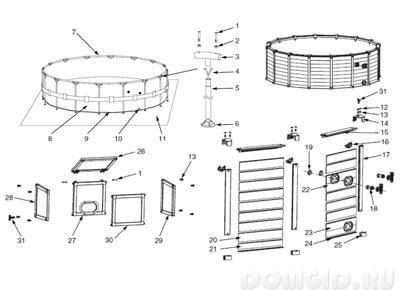инструкция по установке каркасного бассейна Intex - фото 5