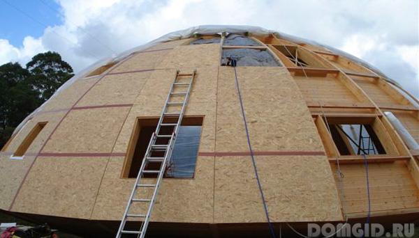Строить круглый дом своими руками