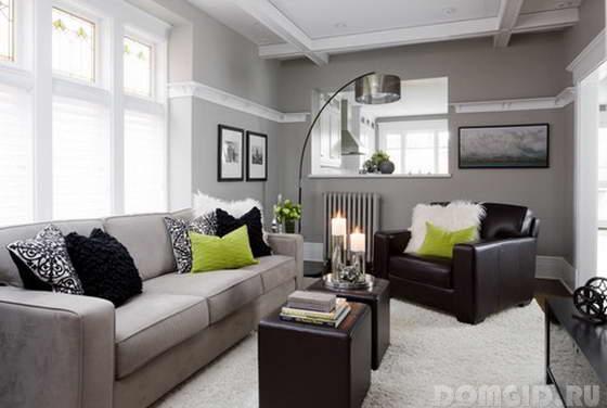 С каким цветом сочетается серый цвет в интерьере