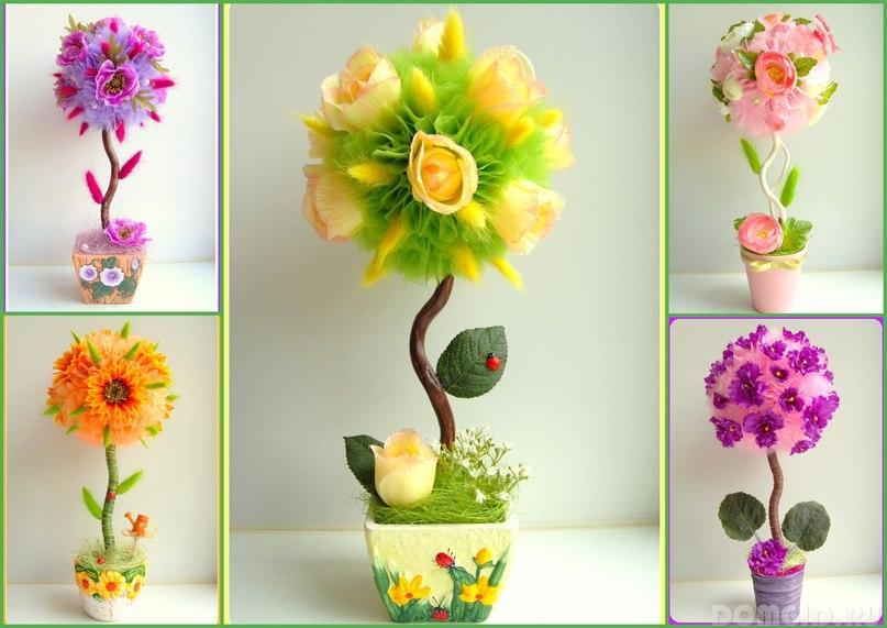 Цветочные топиарии своими руками мастер класс