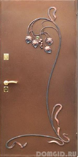 Декор металлических дверей