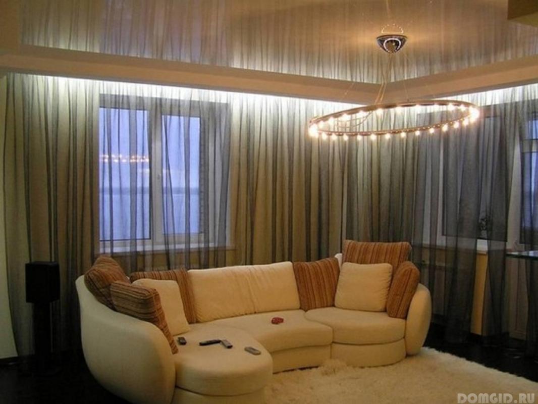 Дизайн штор с натяжными потолками фото