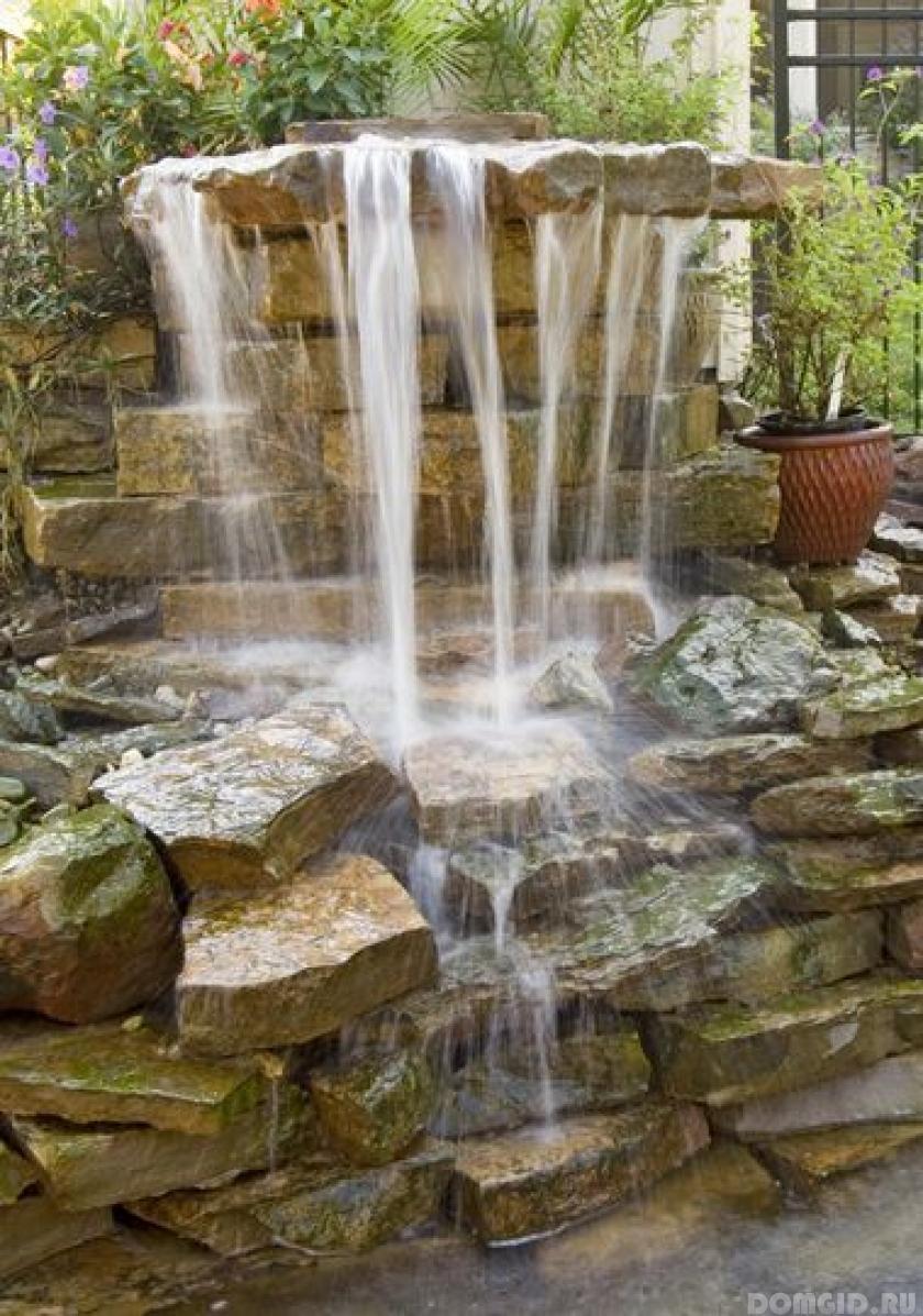 Водопады на участке
