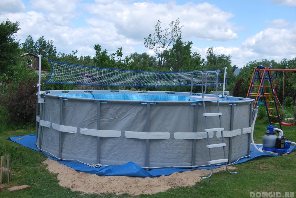 Основание для каркасного бассейна из досок