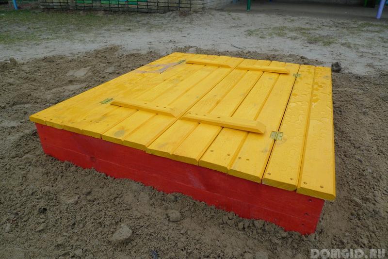 Как сделать песочницу с крышкой и сидением 192