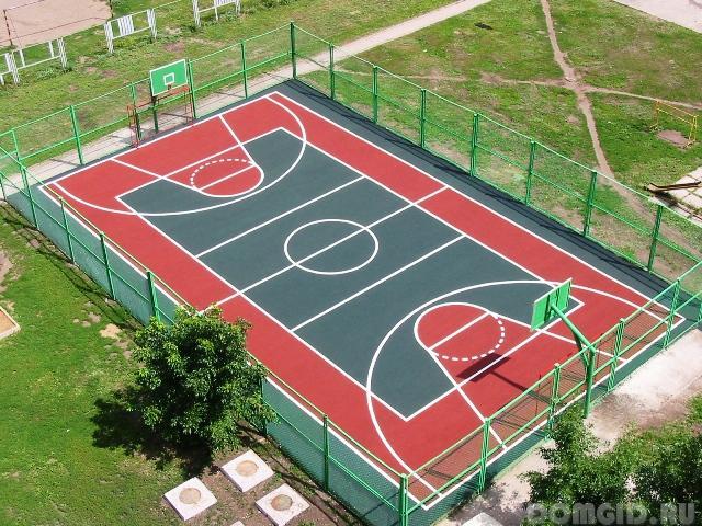 Спортивное покрытие для улицы своими руками