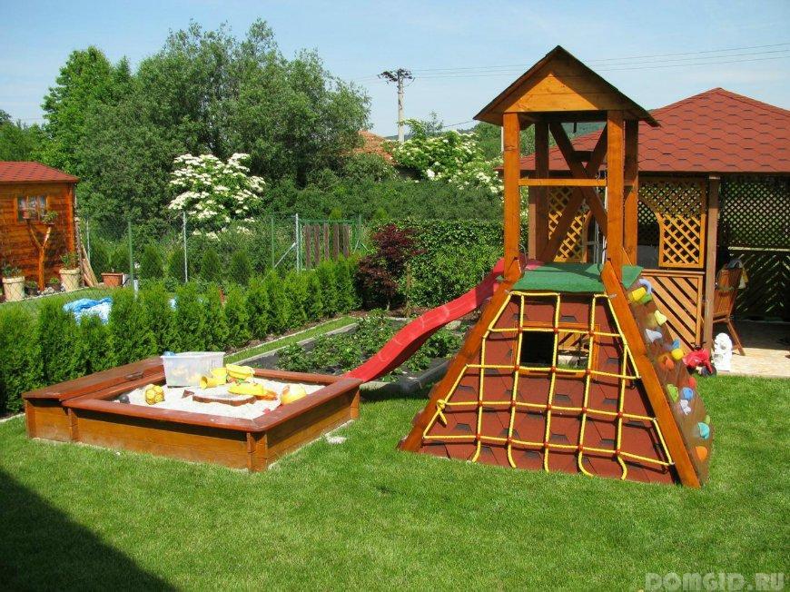 Приусадебный участок детская площадка своими руками