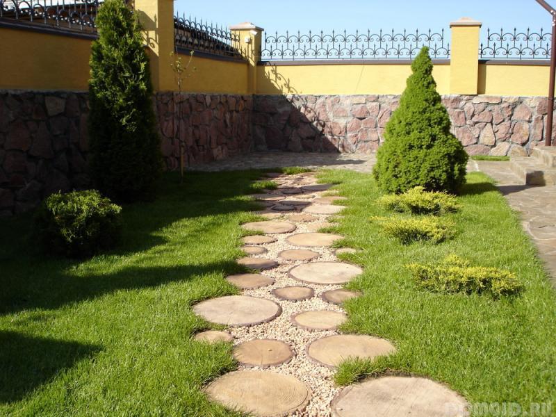 Дизайн садовых дорожек фото своими руками