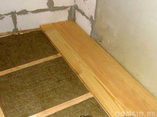 Утеплитель на деревянный пол под линолеум