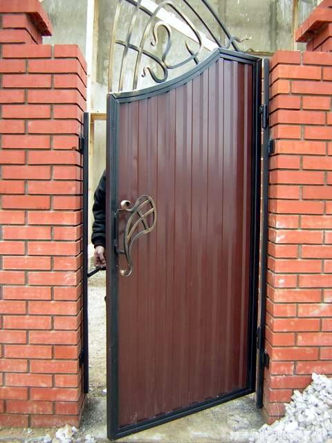 Ворота из металлопрофиля своими руками фото 282