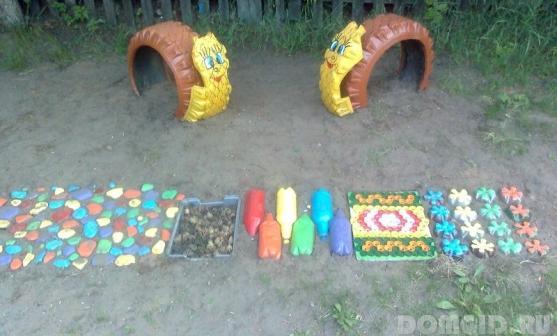 Дорожки в детском саду своими руками из подручного материала