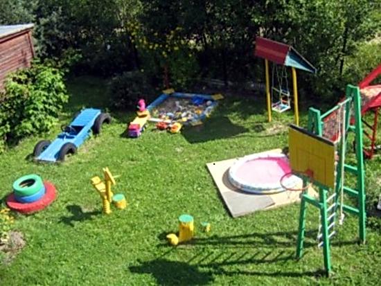 Детский уголок во дворе своими руками