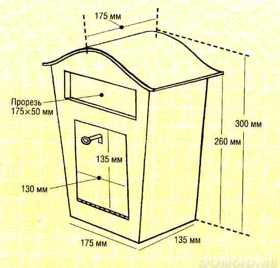 Почтовый ящик для дома своими руками