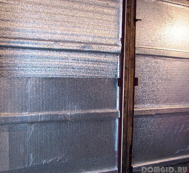 Как утеплить гаражные ворота изнутри своими руками видео